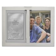 "Lawrence Frames 750046D Silver Metal 6.75"" x 9.2"" Picture Frame"