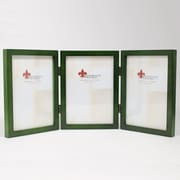 "Lawrence Frames 756057T Satin Green Wood 7.63"" x 17.13"" Picture Frame"