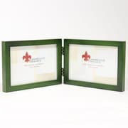 "Lawrence Frames 756064D Satin Green Wood 4.63"" x 12.38"" Picture Frame"