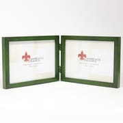 "Lawrence Frames 756075D Green Wood 5.63"" x 14.38"" Picture Frame"