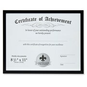 "Lawrence Frames 8.5"" x 11"" Aluminum Black Document Frame (240081)"