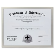 "Lawrence Frames 8.5"" x 11"" Aluminum Silver Document Frame (240181)"