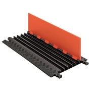 Checkers® Guard Dog® 5 Channel Low Profile Cable Protector With Standard Ramp, Orange/Black