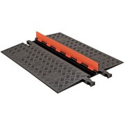 Checkers® Guard Dog® 1 Channel Low Profile Cable Protector With Built-In ADA Ramp, Orange/Black