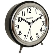 Westclox® 75032 Classic Retro Alarm Clock With Chrome Bezel, Black