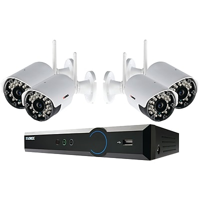 LOREX 4 Channel Security Camera System With Weatherproof Wireless Cameras