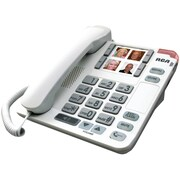 RCA 1123-1 Legend Series Amplified Big Button Deskphone With Speakerphone, White