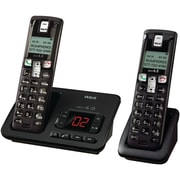 RCA 2102-2 DECT 6.0 Two Handset Cordless Phone With Caller ID, 50 Name/Number