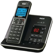 RCA 2112-1 DECT 6.0 Step Digital Single Handset Cordless Phone, 50 Name/Number