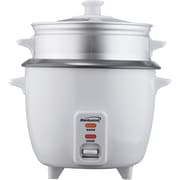 Brentwood® 5 Cup Rice Cooker With Steamer, White