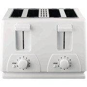 Brentwood 4 Slice Toaster, White