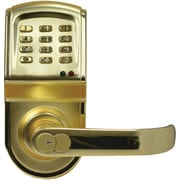 Linear® 212LS Electronic Access Control Cylindrical Lockset, Polished Brass