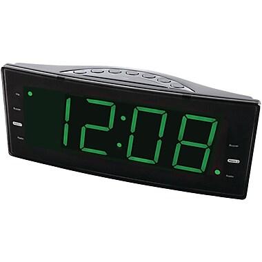 Naxa® NRC-166 FM Dual Alarm Clock With USB Charger & Jumbo Display
