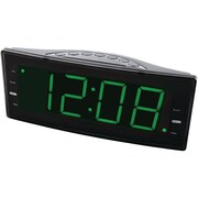 Naxa® NRC-166 FM Dual Alarm Clock With USB Charger & Jumbo Display