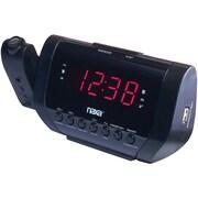 Naxa® NRC-167 Projection FM Dual Alarm Clock With USB Charger
