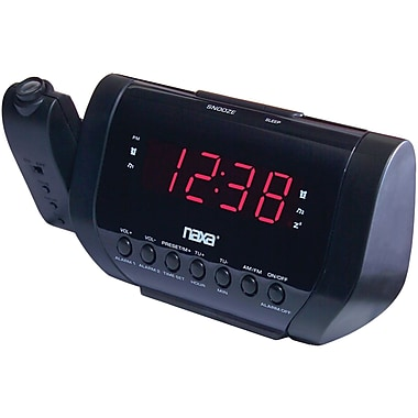 Naxa® NRC-173 Projection AM/FM Dual Alarm Clock