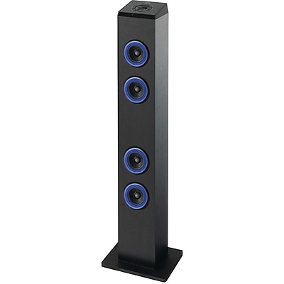 Ilive Blue Blue ITB124B Bluetooth Tower Speaker With LED Light Black