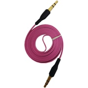iessentials 3.3' Flat Male to Male Auxiliary Cable, Pink
