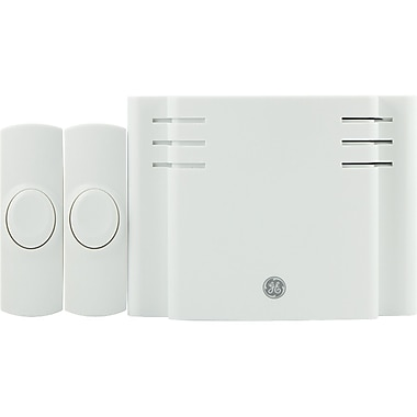 GE 19297 Battery Operated 8 Melody Door Chime With 2 Push Buttons