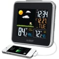 La Crosse Technology® 308-146 Wireless Atomic Color Weather Station With USB Charging