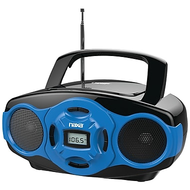 Naxa® NPB-264 MP3/CD Mini Boombox and USB Player, Blue