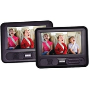 "RCA DRC69707 7"" Mobile DVD Player With Additional 7"" Screen, Black"