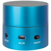 iSound® Fire Mini 3W Rechargeable Portable Wired Speaker, Blue
