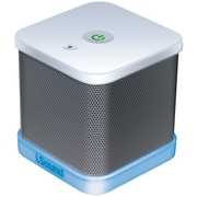 iSound® iGlowSound Cube Portable Wired Speaker, White