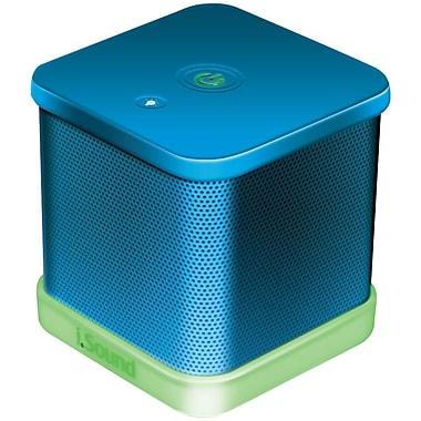 iSound® iGlowSound Cube Portable Wired Speaker, Blue