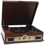 Pyle® Classic Style Turntable With Bluetooth, Brown Wood