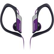 Panasonic RP-HS34 Water-Resistant Sports Clip Earbud Headphones, Violet