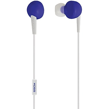Koss® KEB6I In-Ear Headphones With 1-Touch Microphone, Blue