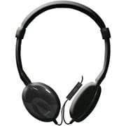 Maxell 196106 Classic Headphones With Microphone, Black
