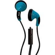 Maxell 196141 Color Buds Headphones With Microphone, Blue