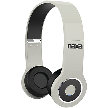Naxa® NE-932 Bluetooth Wireless On-Ear Headphones, White