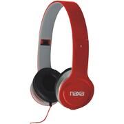 Naxa® NE-930 On-Ear Flash Headphones, Red