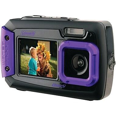 Coleman® 2V9WP 20.0 Megapixel Duo2 Dual Screen Waterproof Digital Camera, Purple