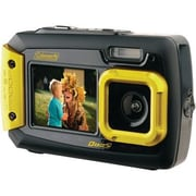 Coleman® 2V9WP 20.0 Megapixel Duo2 Dual Screen Waterproof Digital Camera, Yellow