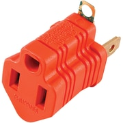GE Polarized Grounding Adapter Plug, Orange