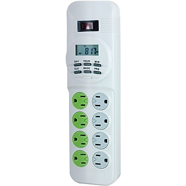 GE 8 Outlet 450 Joule Surge Protector With 4' Cord