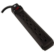 GE 6 Outlet Power Strip With 2' Cord, Black