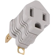 GE Polarized Grounding Adapter Plug, Gray