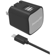 DigiPower® InstaSense™ 2.4 A Dual-Port USB Wall Charger, Black