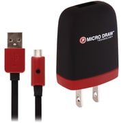 Xentris 1 A Micro USB Wall Charger, Black/Red