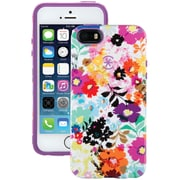 Speck® Candyshell® Inked Case For iPhone 5/5S, BoldBlossoms White/Revolution Purple