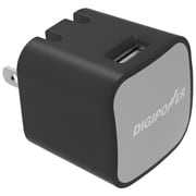 DigiPower® InstaSense™ 2.4A Single USB Wall Charger, Black