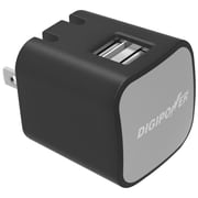DigiPower® InstaSense™ 3.4A Dual USB Wall Charger, Black