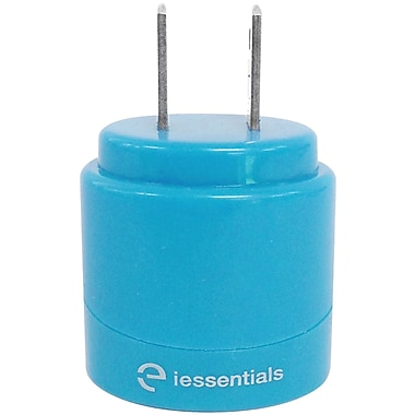 iessentials 2.1A Dual USB Home Charger, Blue