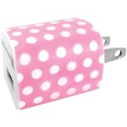 iessentials 1A USB Wall Charger, Pink/White