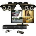 Security Labs® SLM469-700 4-Channel Digital Video Recorder With IR Cameras and 19in. LED Monitor